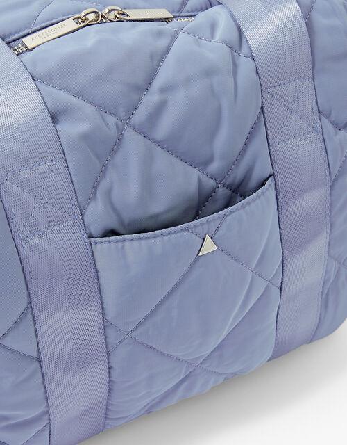 Becca Quilted Gym Bag, Blue (BLUE), large