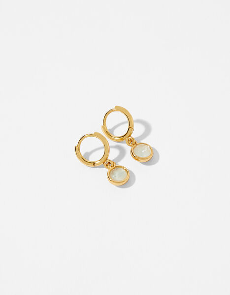 Gold-Plated Birthstone Earrings - April, , large