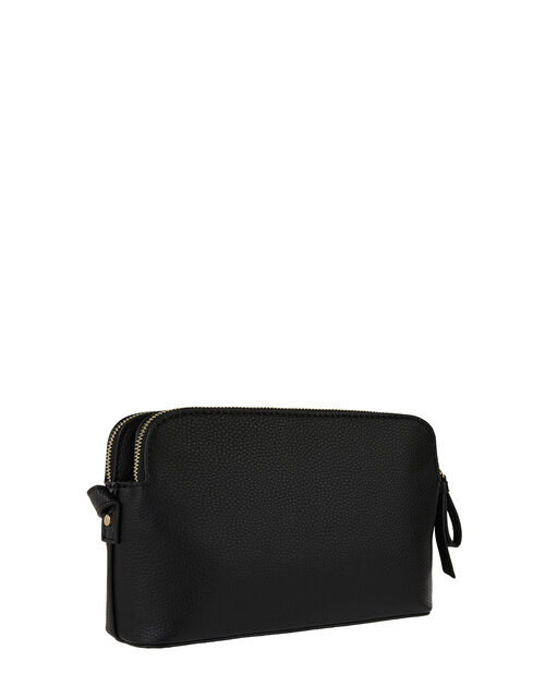 Taylor Vegan Cross Body Bag, Black (BLACK), large
