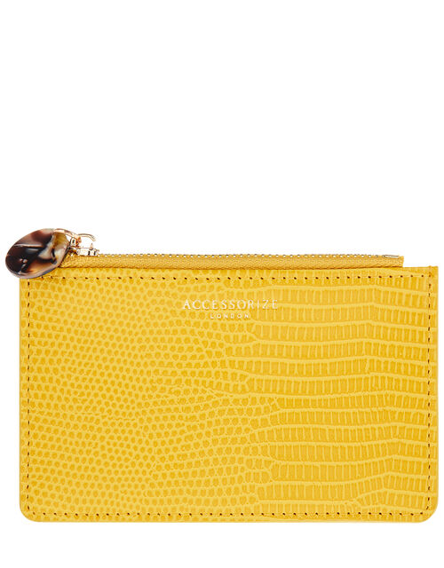 Shoreditch Reptile Card Holder, Yellow (YELLOW), large