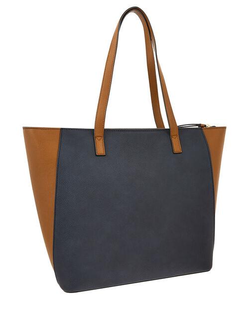 Dolly Vegan Colour-Block Tote Bag, Multi (DARKS-MULTI), large