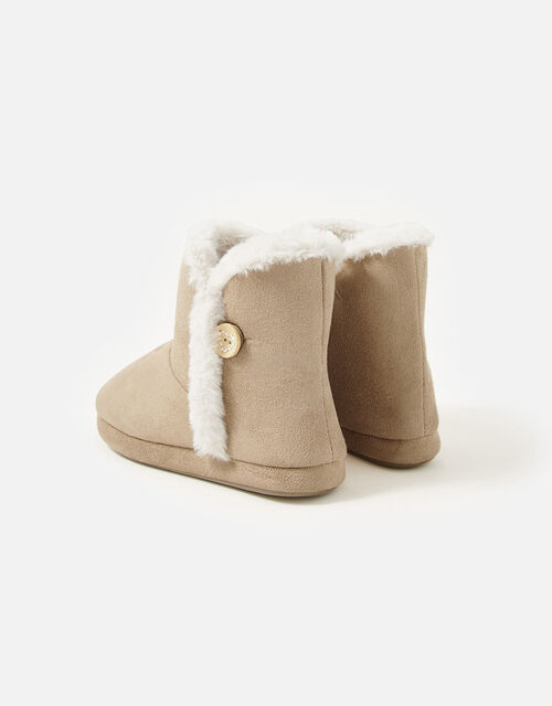 Suedette Slipper Boots, Tan (TAN), large