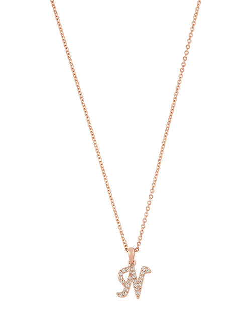 Sparkle Initial Necklace - N, , large