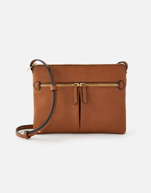 Ella Cross-Body Bag, Tan (TAN), large