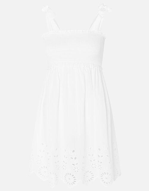 Shiffly Bardot Dress, White (WHITE), large