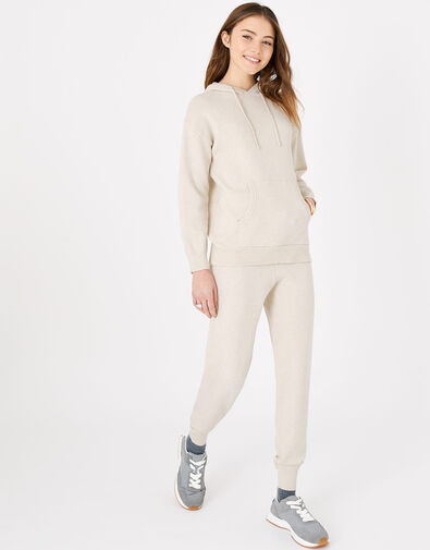 Knit Lounge Joggers Cream, Cream (TAUPE), large