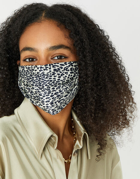 Leopard Face Covering in Pure Silk, , large