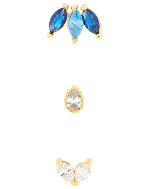 Stone and Crystal Flat-Back Stud Set, , large