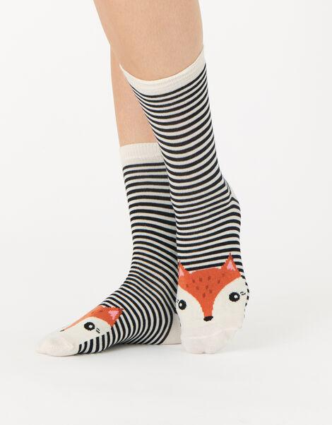 Animal Face Sock Multipack, , large