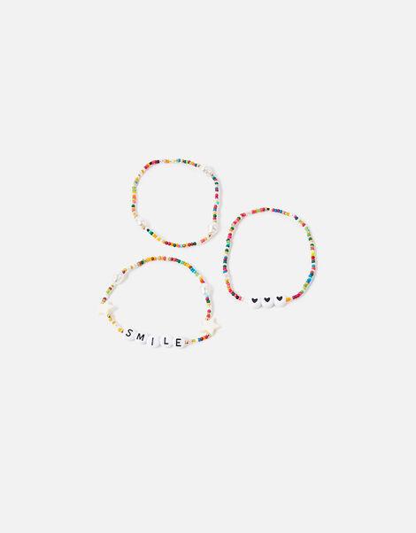 Smile Beaded Bracelet Set, , large