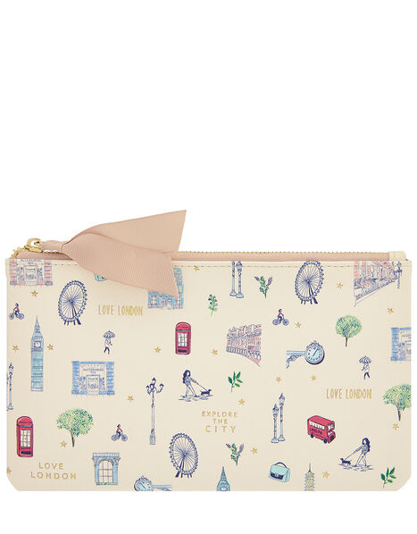 All Over London Print Pencil Case, , large