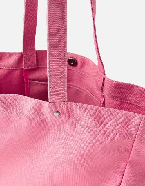 Canvas Shopper Bag, Pink (PINK), large