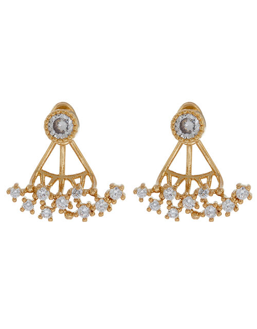 Gold-Plated Crystal Ear Jackets, , large