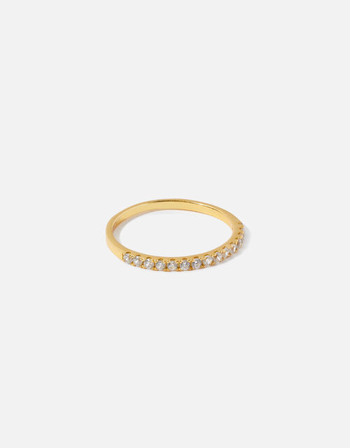 Gold-Plated Sterling Silver Eternity Band Ring, Gold (GOLD), large