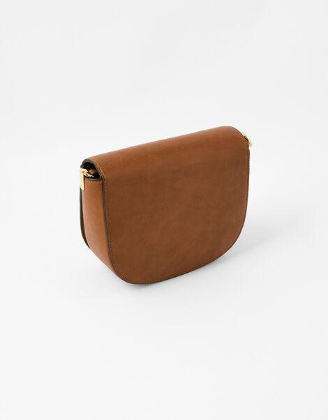 Eloise Patchwork Cross-Body Bag Tan, Tan (TAN), large