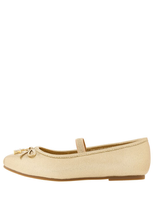 Star Charm Ballet Flats, Gold (GOLD), large