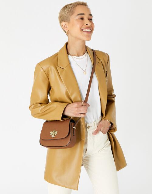 Britney Bee Cross-Body Bag , Tan (TAN), large