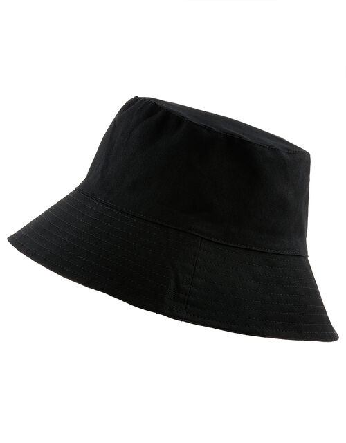 Utility Bucket Hat in Cotton Twill, Black (BLACK), large
