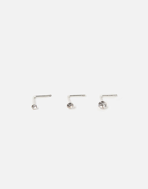 Sterling Silver Nose Stud Set , , large