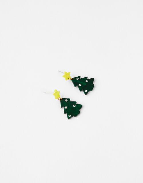 Christmas Tree Short Drop Earrings, , large