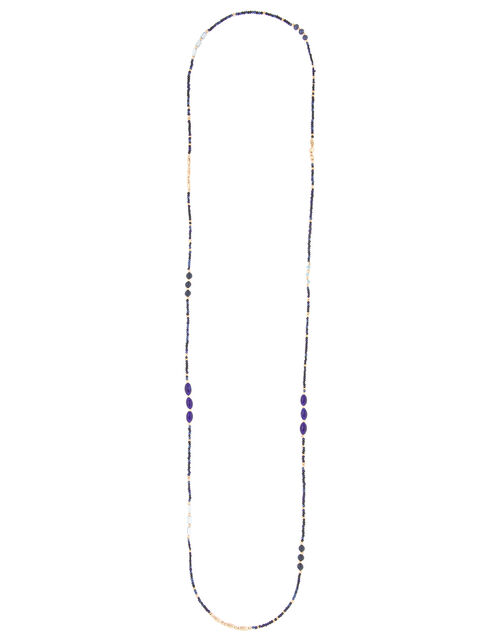 Skinny Seedbead Rope Necklace, , large