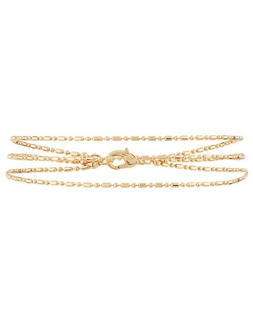 Layered Chain Anklet, , large
