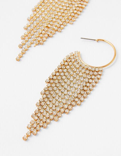 Crystal Drench Hoop Earrings, , large