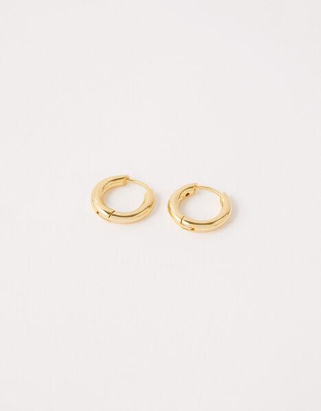 Gold Vermeil Huggie Hoop Earrings, , large