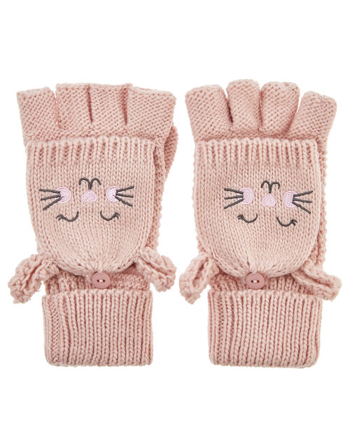 Bella Bunny Capped Mittens, Pink (PINK), large