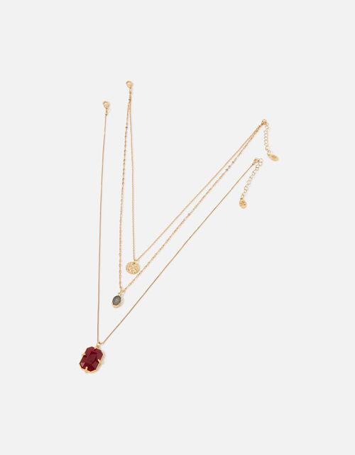Berry Blush Layered Necklace Set, , large