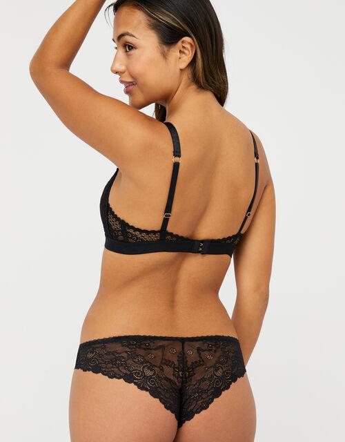 Lace Triangle Bra, Black (BLACK), large