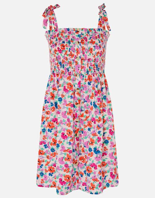 Floral Dress in LENZING™ ECOVERO™, Multi (BRIGHTS-MULTI), large