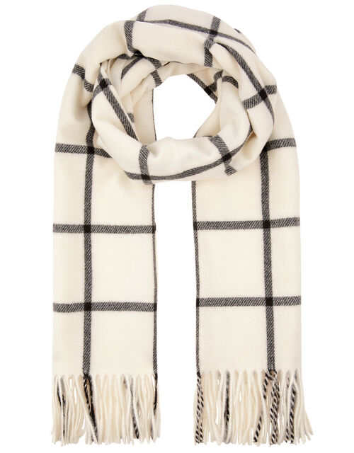 Carter Window Pane Check Blanket Scarf, , large