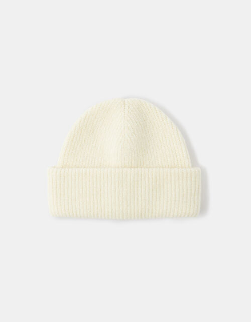 Compton Fluffy Beanie Hat Natural