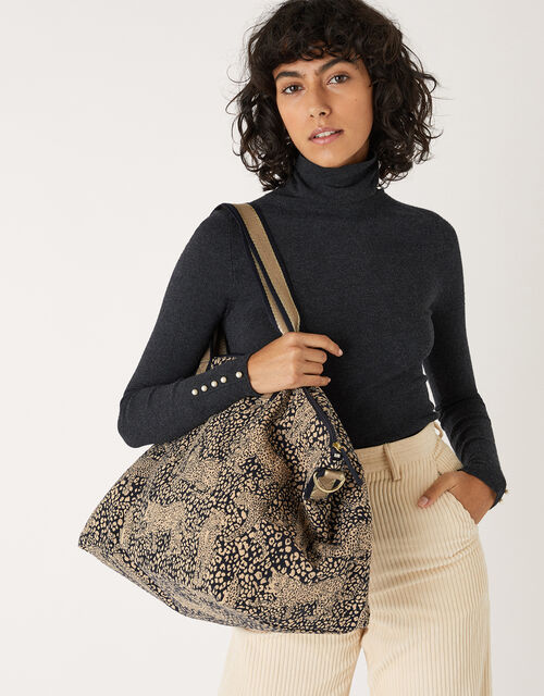 Large Leopard Weekend Bag, , large