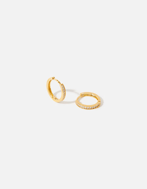 Gold-Plated Huggie Hoops, , large