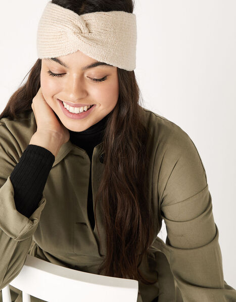 Knit Bando Headband Natural, Natural (NATURAL), large