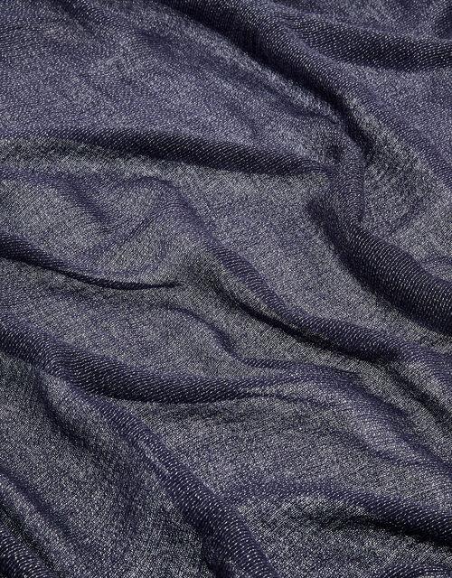 Metallic Lightweight Scarf, Blue (NAVY), large