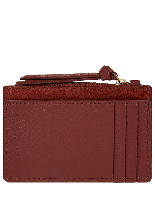 Leather Card Holder, Orange (RUST), large