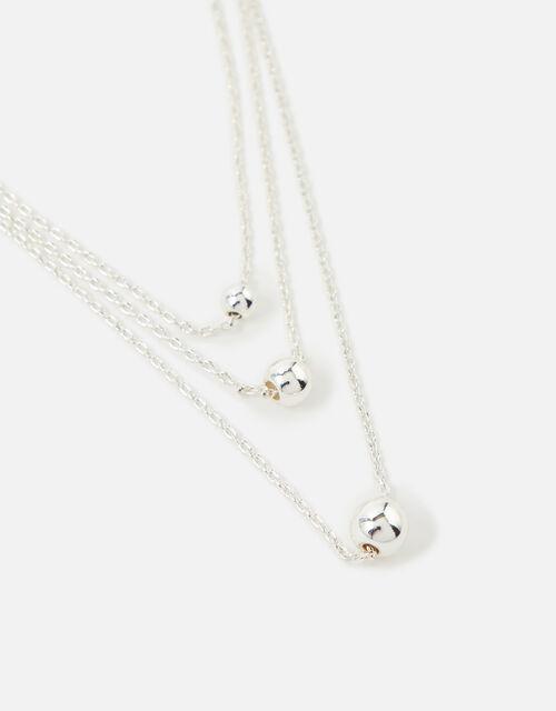 Berry Blush Tiny Orb Multirow Necklace, , large