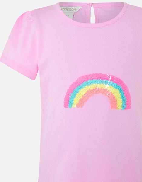 Girls Sequin Rainbow T-Shirt Multi, Multi (BRIGHTS-MULTI), large