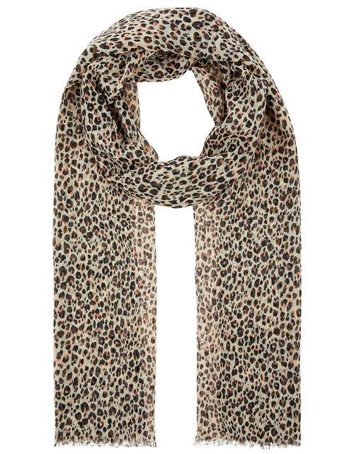 Leopard Print Scarf, , large