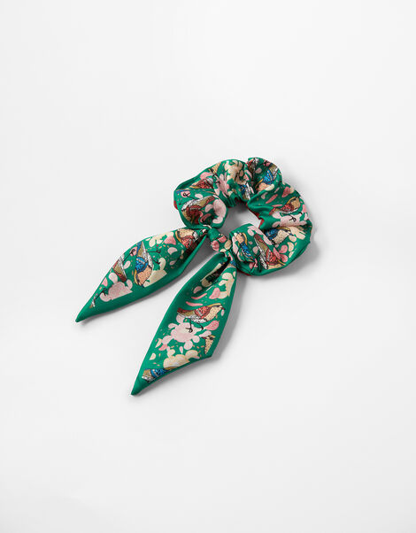 Printed Tie Hair Scrunchie, , large
