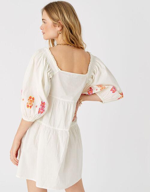 Embroidered Dress in Pure Cotton, Multi (BRIGHTS-MULTI), large