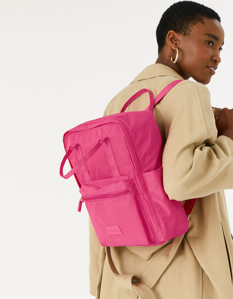 Frida Canvas Backpack  Pink, Pink (FUCHSIA), large