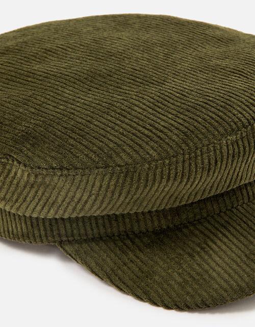 Cord Mariner Cap, Green (KHAKI), large