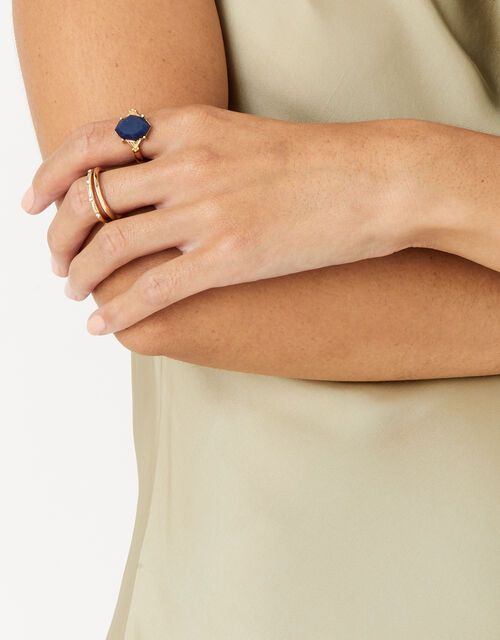 Midnight Sky Delicate Stone Ring, Blue (NAVY), large