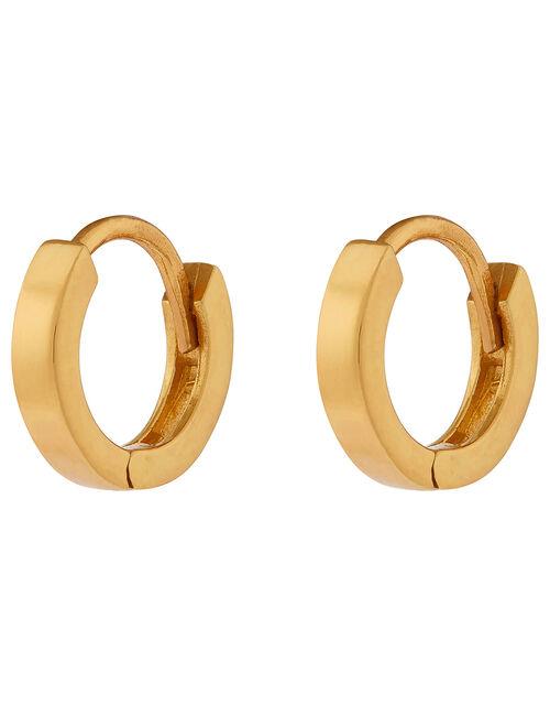 Sterling Silver Huggie Hoop Earrings, , large