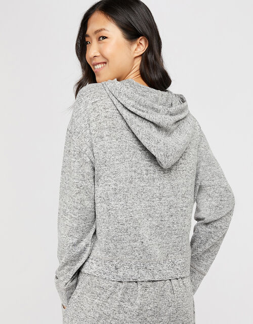 Grey Marl Zip Hoody, Grey (GREY), large