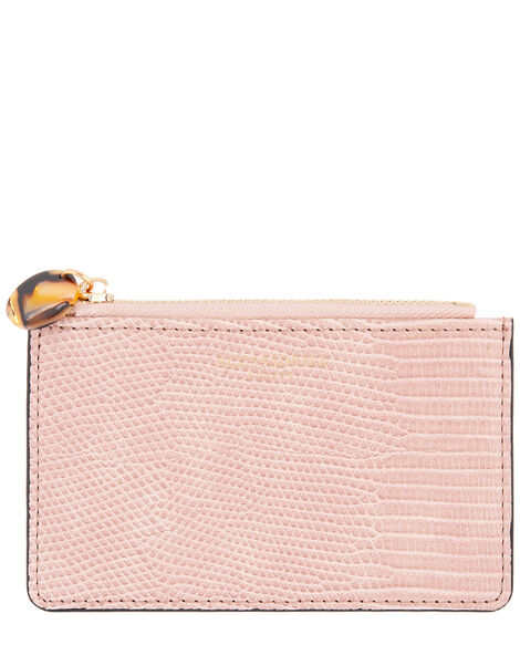 Shoreditch Reptile Card Holder Pink, Pink (PINK), large